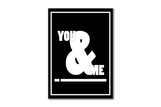 Dekoracja do mieszkania plakat you and me