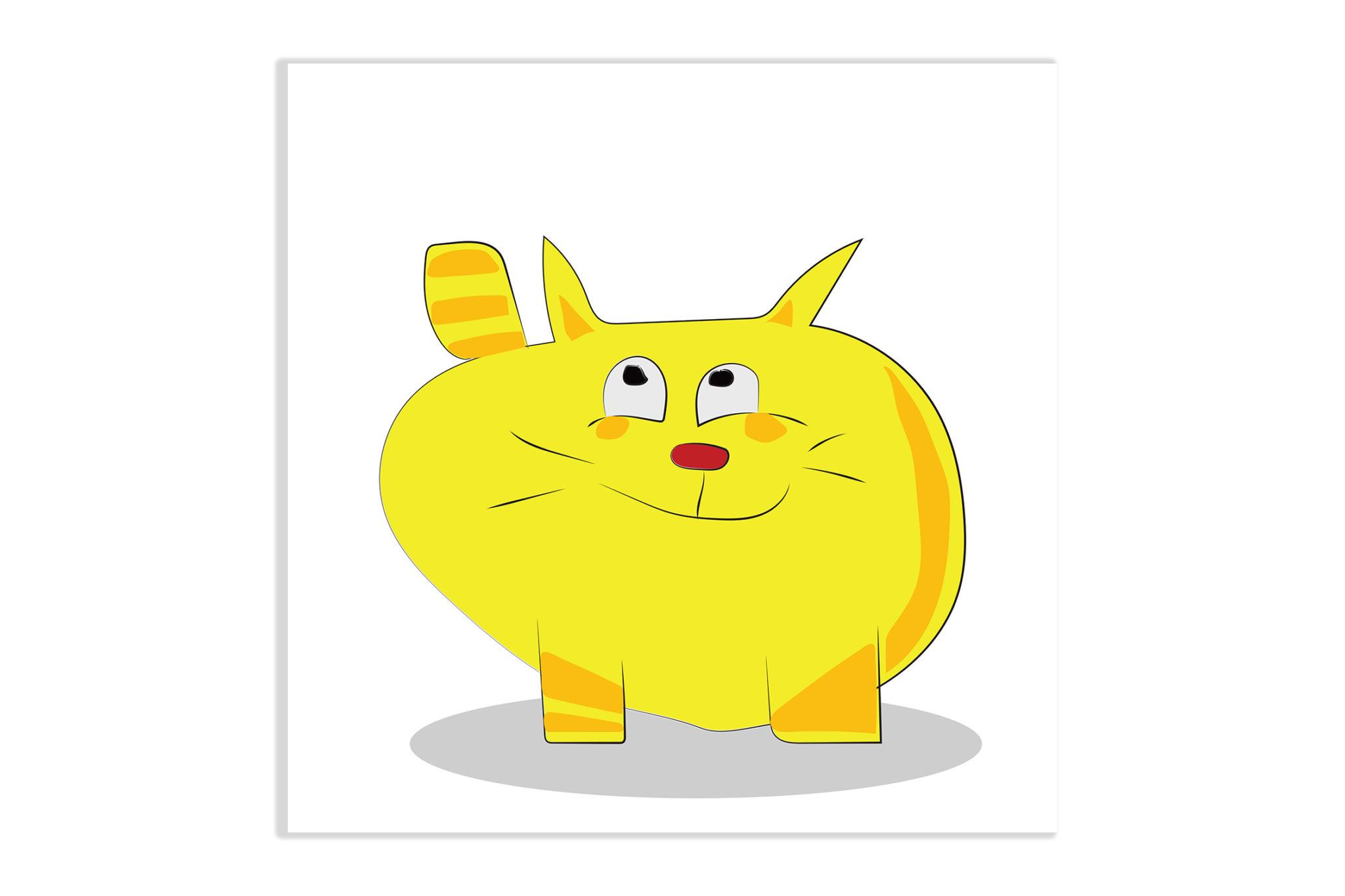 Obrazek dziecięcy Żółty Kot