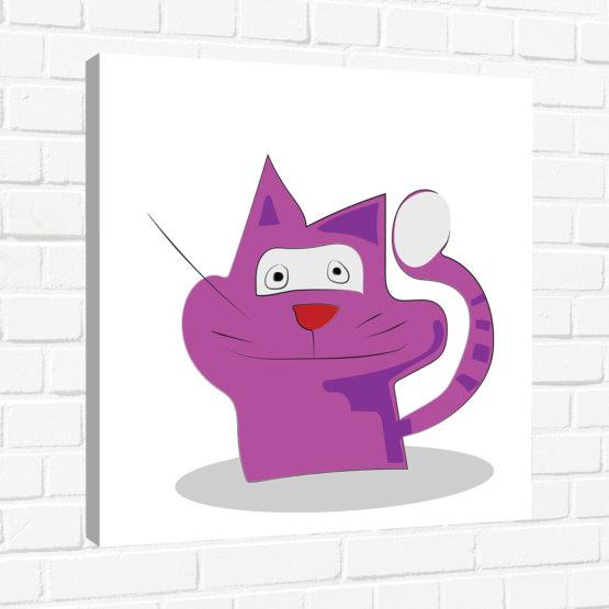 fioletowy kot