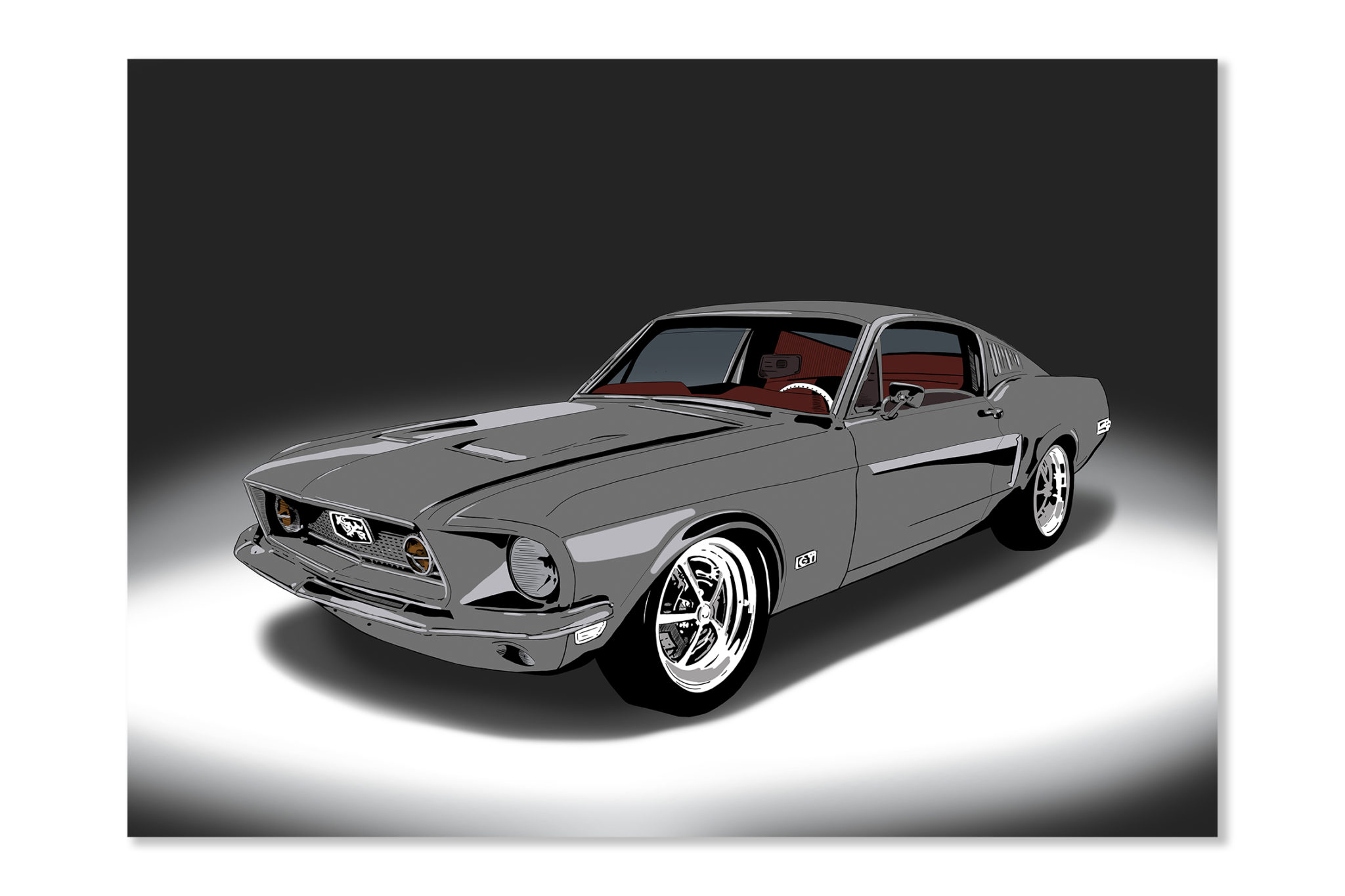 Ford Mustang plakat