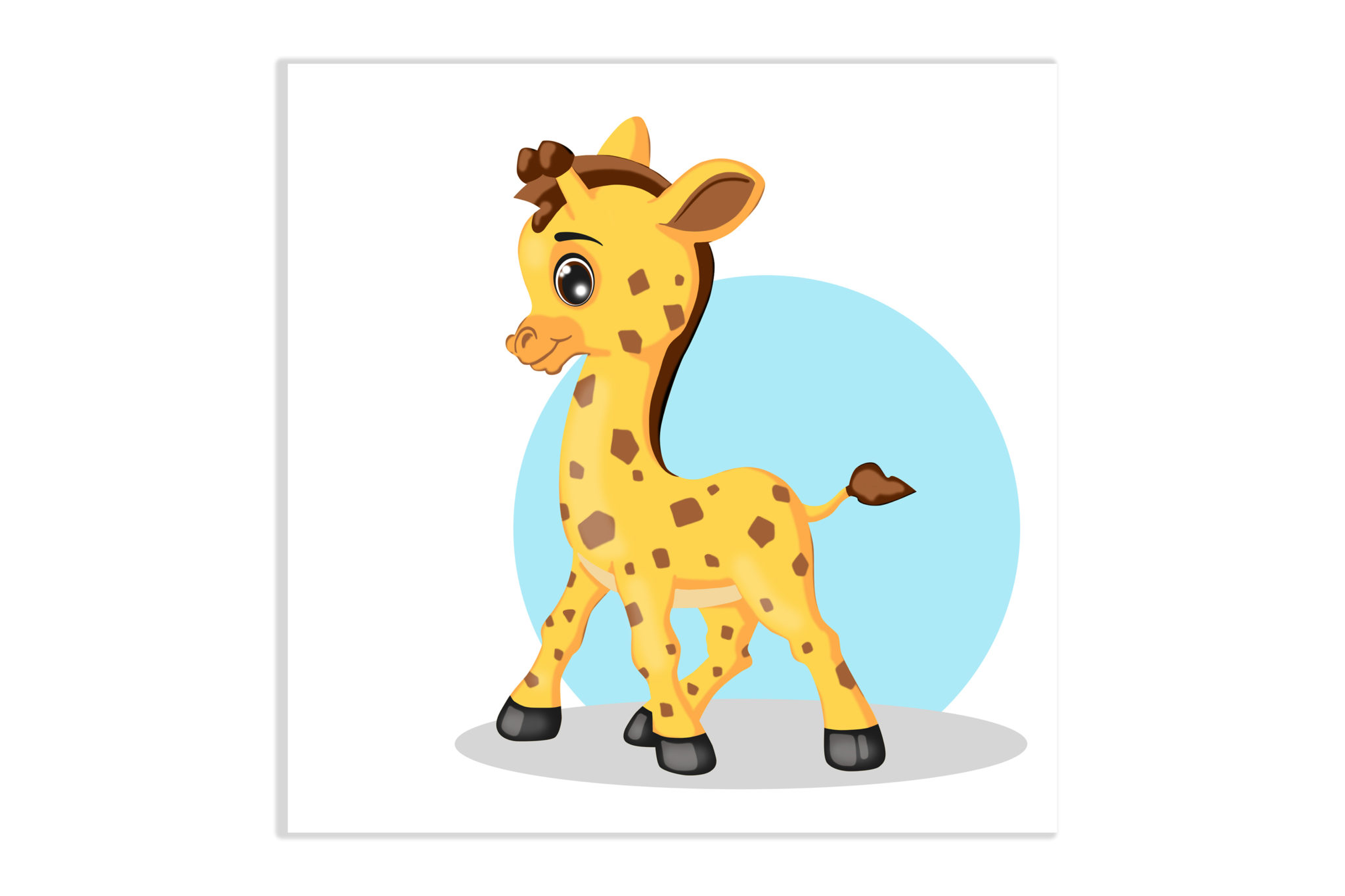 Obrazek dziecięcy Żyrafa