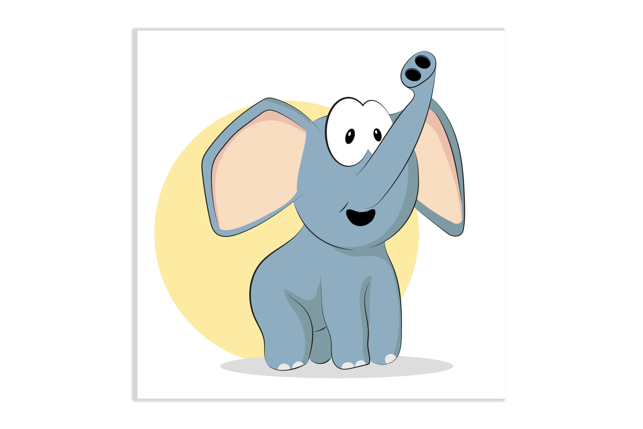 Obrazek do pokoju dziecięcego Słoń