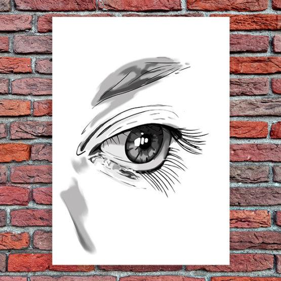 oko obraz na płótnie
