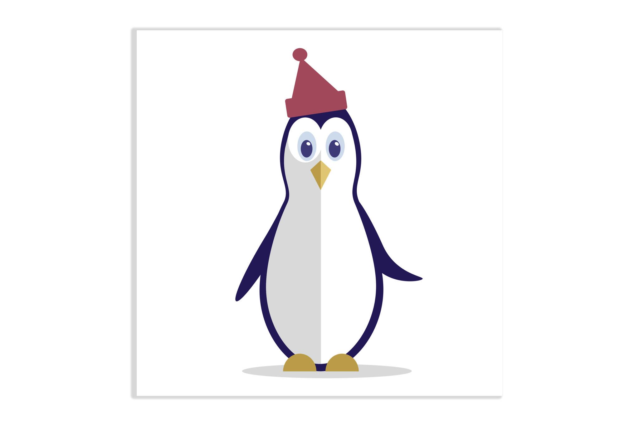 Pingwinek z czapką