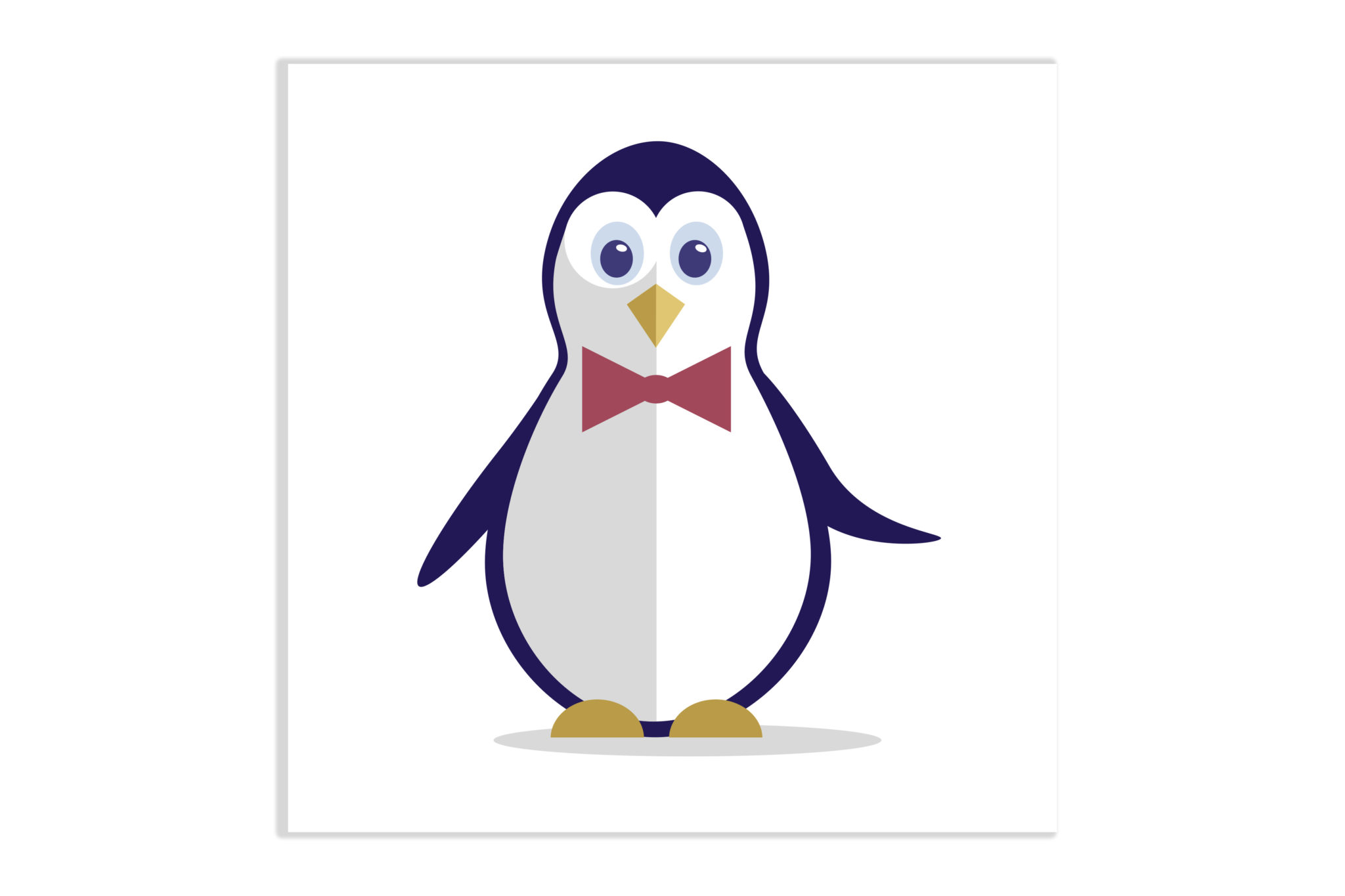 Pingwinek z muchą