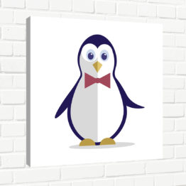 pingwin z muchą