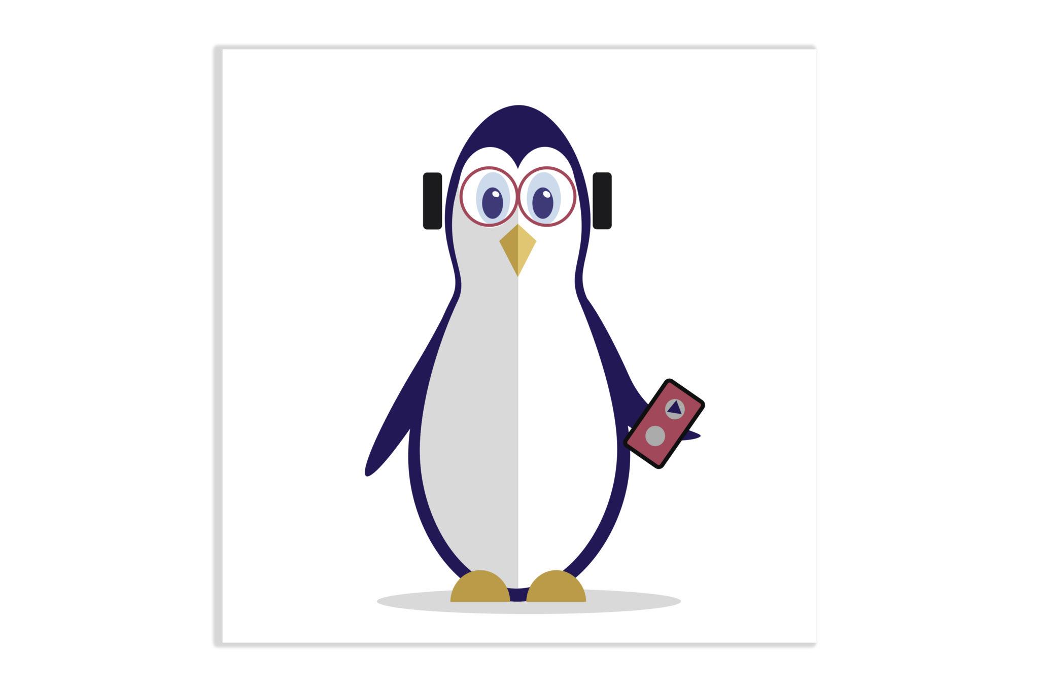 Pingwinek z walkmanem