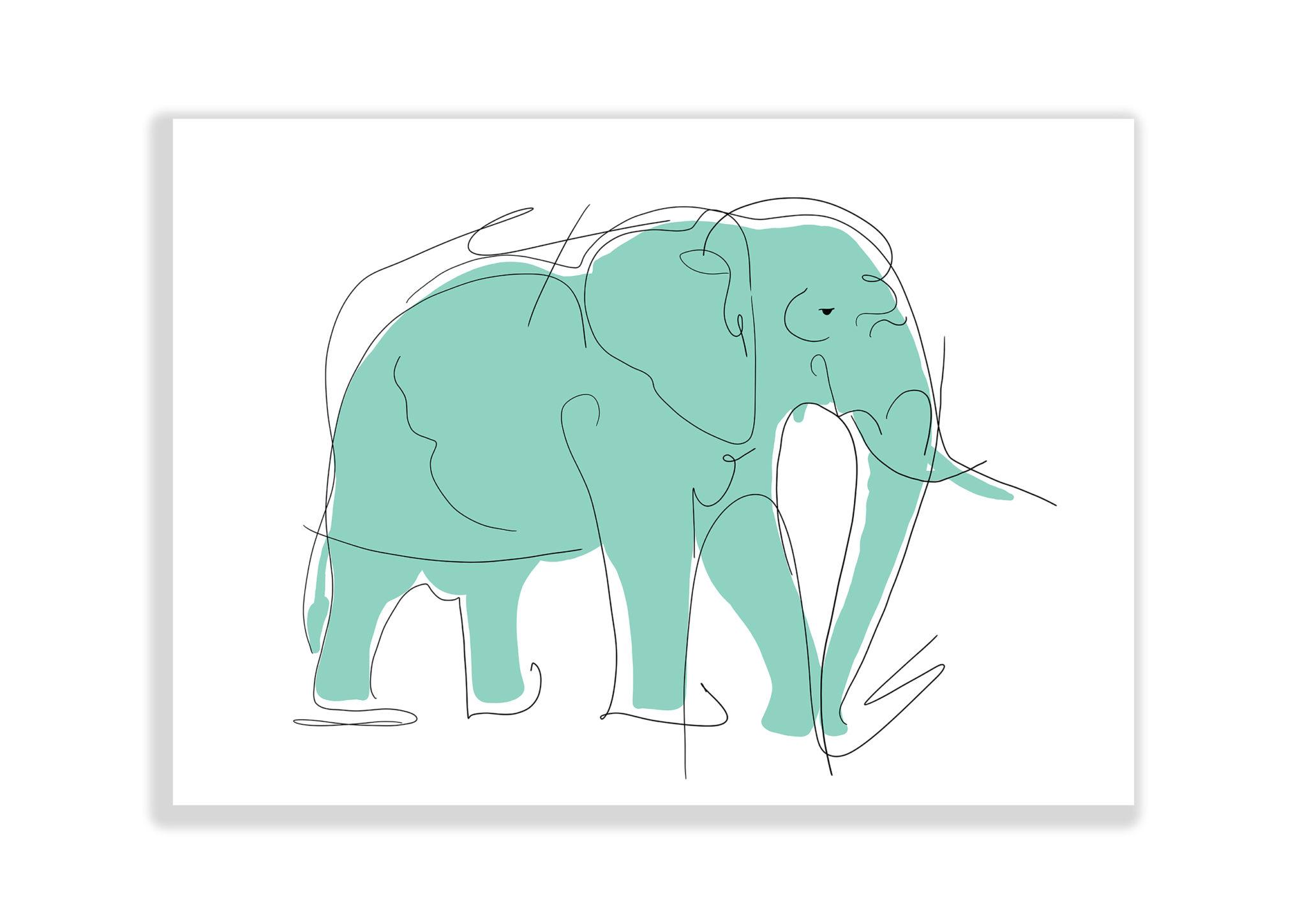 Abstrakcja Obraz Słoń