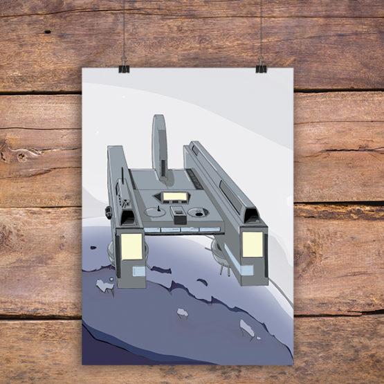 plakat statek kosmiczny