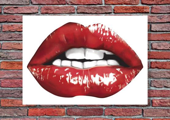 usta obraz