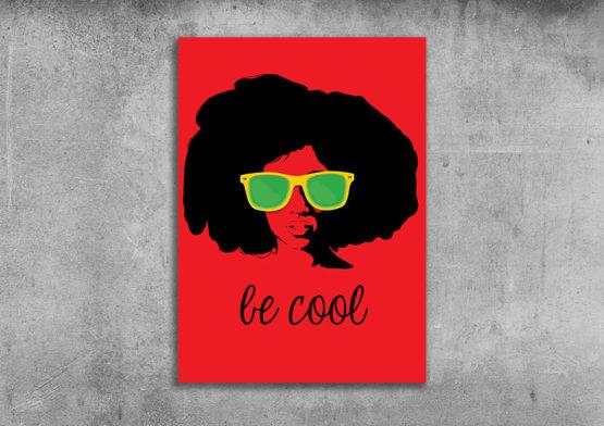 czerwony plakat pop art