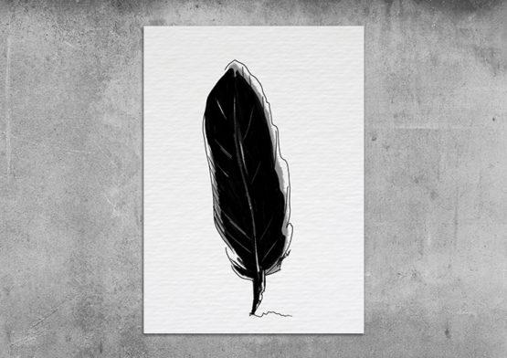 czarne pióro plakat