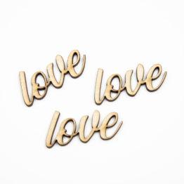 Napis love do decoupage