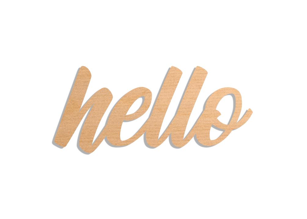 napis hello