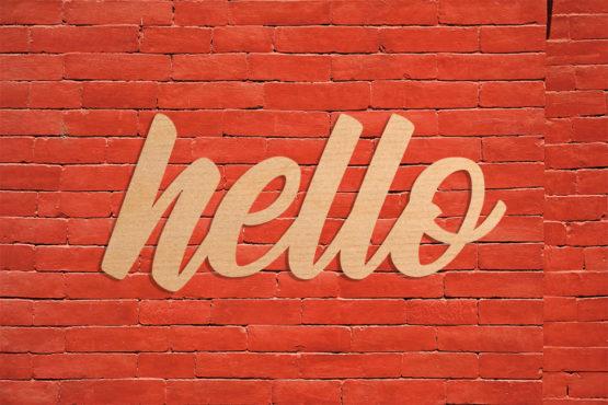 dekoracyjny napis na ścianę