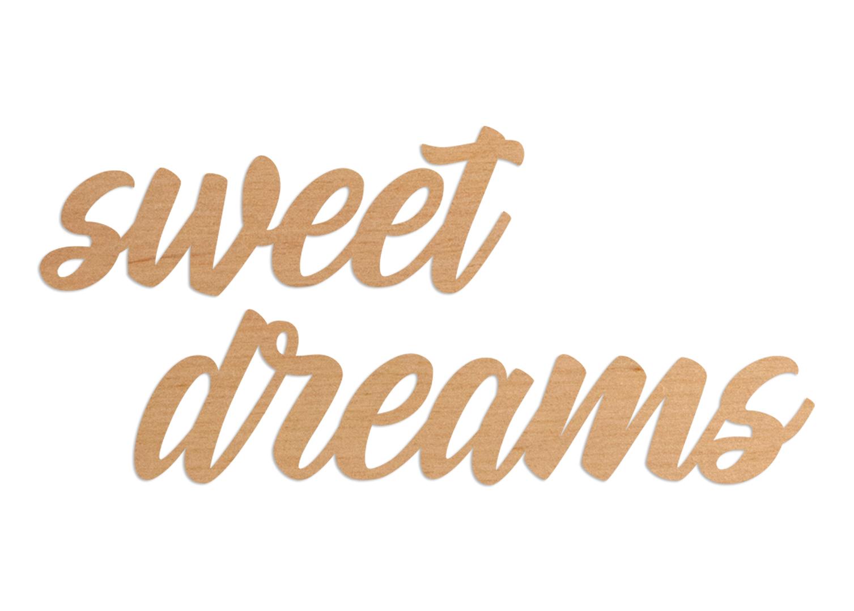 Napis dekoracyjny na ścianę sweet dreams