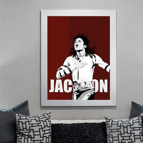 Plakat król pop Michael Jackson