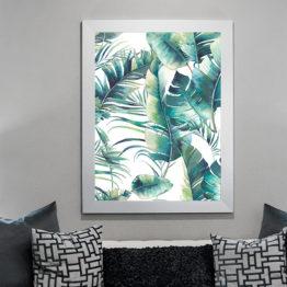 liście akwarela