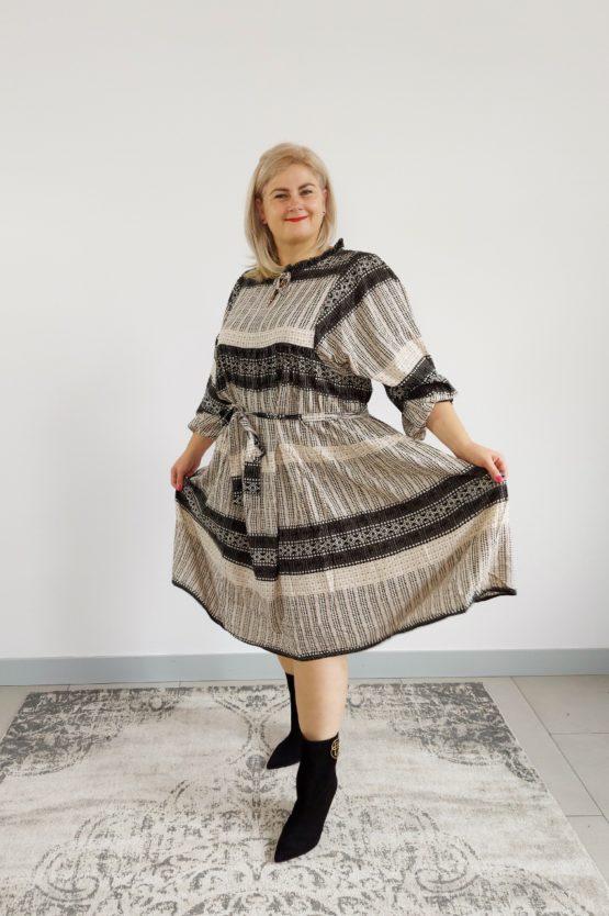 sukienka midi na jesien