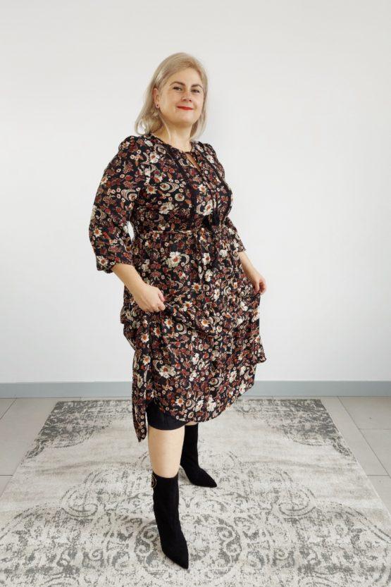 jesienna sukienka plus size