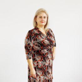 Kopertowa sukienka z nadrukiem