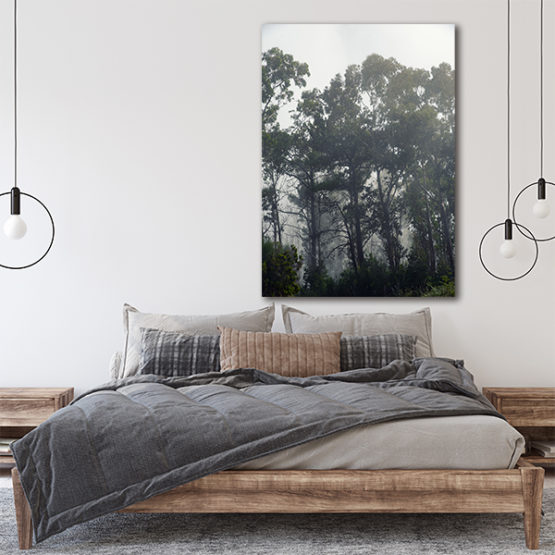Plakat las mgła natura 4