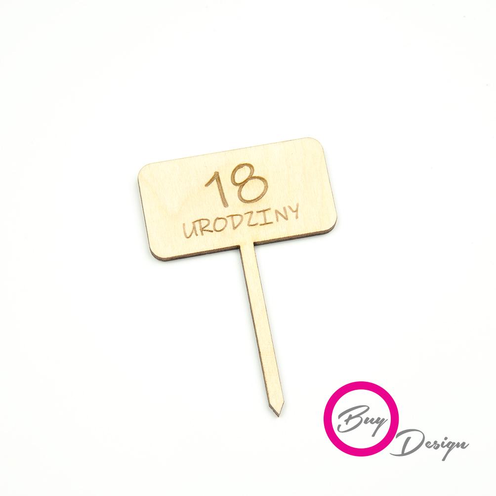 Dekoracje do deserów toppery 18 urodziny