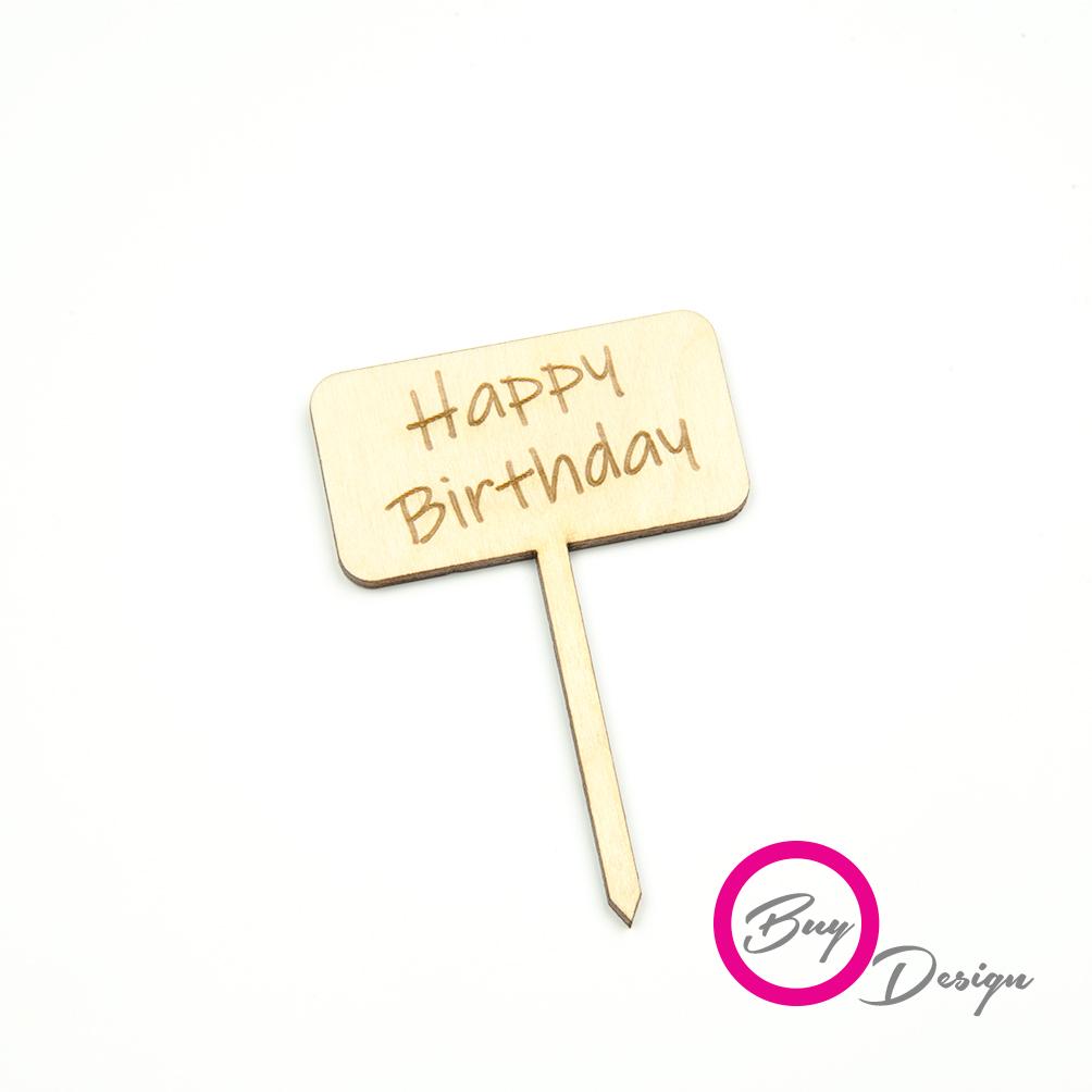 Urodzinowe dekoracje do deserów toppery