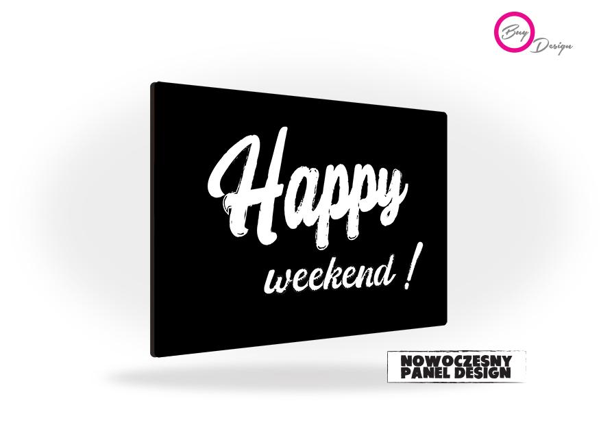 Dekoracja ścienna napis happy weekend