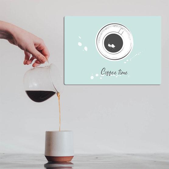 czas na kawę dekoracja do kawiarni
