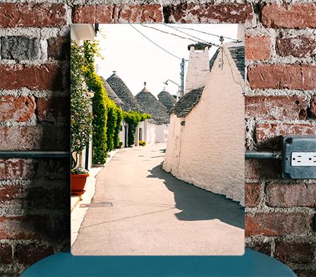 Plakat miasto we Włoszech