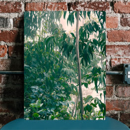 panel design na ścianę natura liście