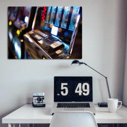 dekoracja plakat automat do gry kasyno