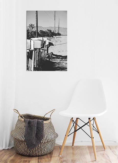 czarno-biały plakat retro do mieszkania