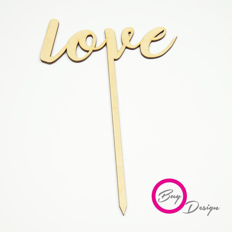 Topper do deserów napis love
