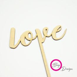 Topper pik do deserów napis love