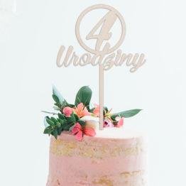 Topper do tortu 4 urodziny
