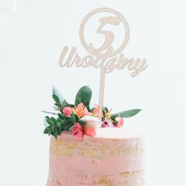 Topper do tortu 5 urodziny