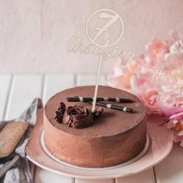 Topper do tortu 7 urodziny