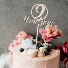 Topper do tortu 9 urodziny