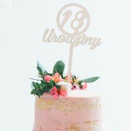Topper do tortu 18 urodziny