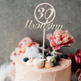 Topper do tortu 30 urodziny