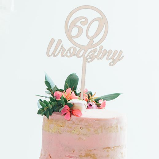 Topper do tortu 60 urodziny