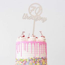 Topper do tortu 70 urodziny