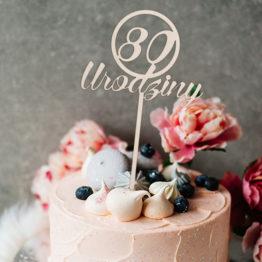 Topper do tortu 80 urodziny