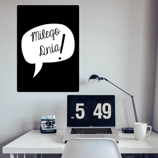 dekoracja do biura z napisem miłego dnia