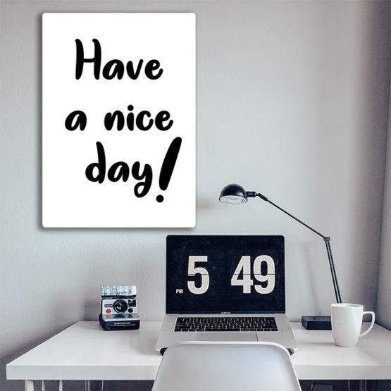 plakat na ścianę have a nice day