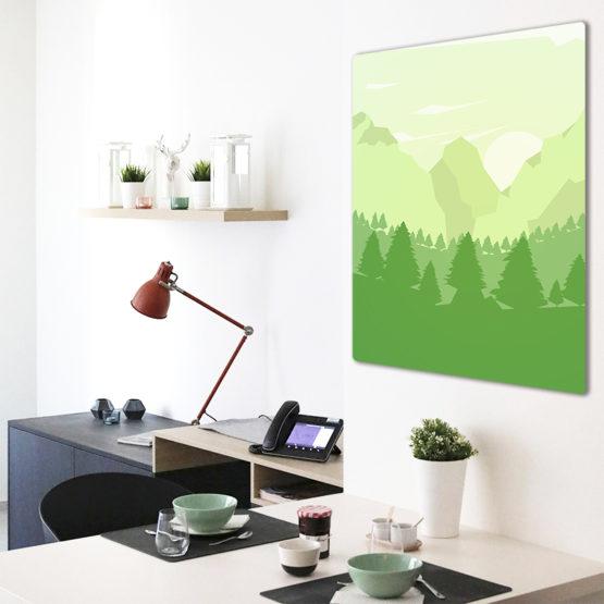 widok na góry plakat natura