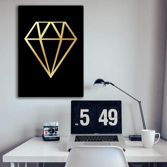 modna dekoracja ścienna z diamentem panel design
