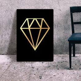 obraz z diamentem do salonu